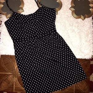 J. Crew Black White Polka Dot Seaside Cami Dress
